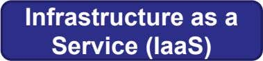 Infrastructure as a Service (IaaS)