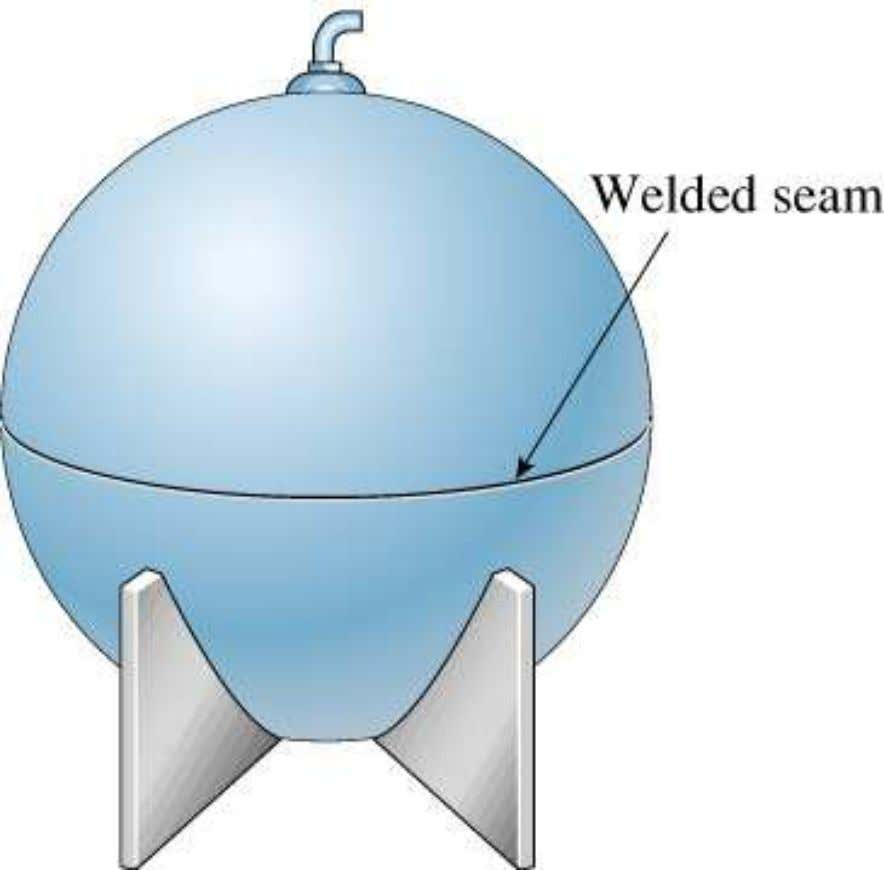 de Pressão Esféricos Fig. 8-1 Spherical pressure vessel. ©2001 Brooks/Cole, a division of Thomson Learning, Inc.