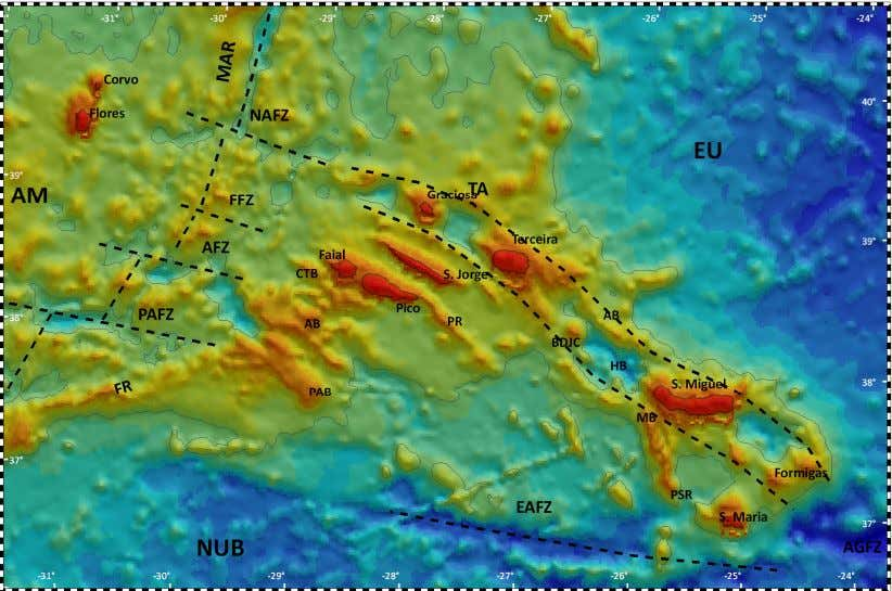Characterization of São Jorge Island Volcanism, Azores Fig. 2.2 – Bathymetric chart of the Azores Plateau