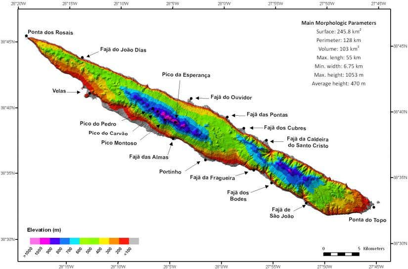 its closer neighbor Pico Island, which is just 18 km apart. Fig. 3.1 – The upper