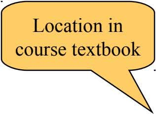 Location in course textbook