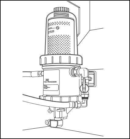 or after one year of service, whichever comes first. FIGURE 13: DAVCO FUEL PRO 382 INSTALLATION