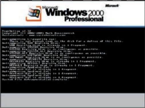 >> pc_zone Дефрагментация реестра в boot-time System File Defragmenter —