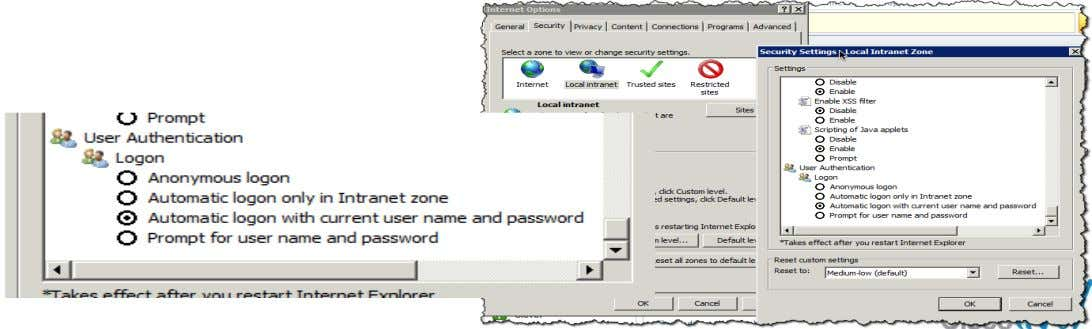 """Automatic Logon with current user name and password "" BRKSEC-2101 © 2012 Cisco and/or its affiliates."