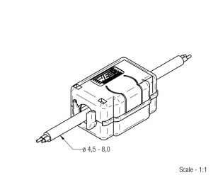 B Applicable Cable Diameter: [mm]