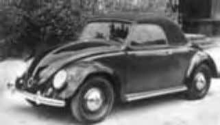 Ford (Eurpoe and US), BMW, Saab and British Leyland. Hebmuller Beetle two seater Cabrio model In