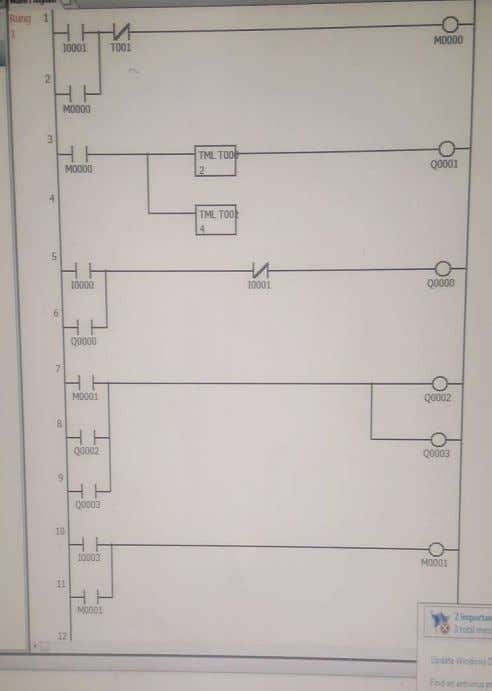 Q0003 Sensor4 I0003 Motor4 Q0004 Buzzer Q0005 Fig -10: Ladder Log ic Program of Project ©