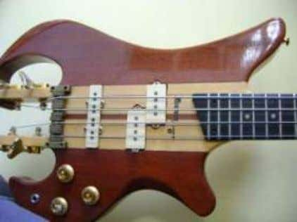 made by Marcelo Bach. Pictured is the bolt-on Petrus. http://www.beaudouxguitarras.com.ar/ BEGHER Brazil, lower