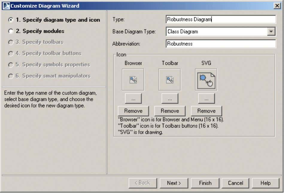 – several icons for your custom diagram representation in MagicDraw GUI. 1 6 Copyright © 2006-2011