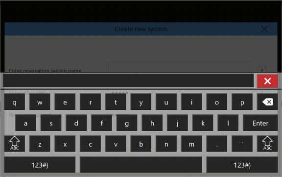 "the creation of the new account by tapping ""Create."" FIGURE 3-5. KEYBOARD A window will pop"