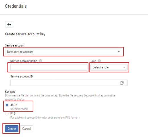 file with credentials to access Google Apps for Work servers is created. FIGURE 2-8. NEW SERVICE