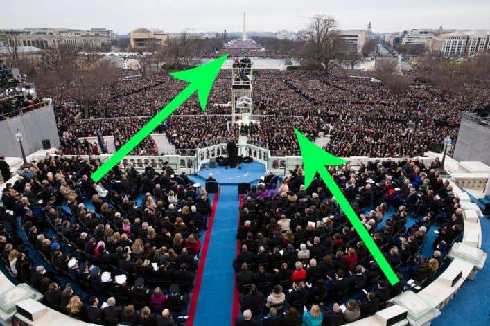 speech. The arrows point to the ordinary people. 3. Checking understanding Is President Obama talking to