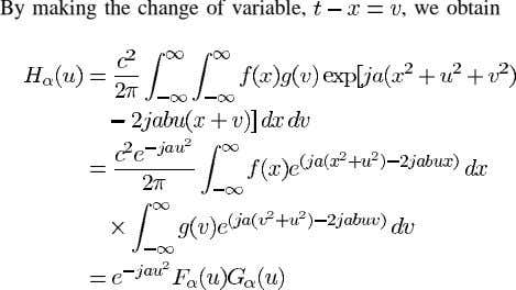 By making the change of variable, , we obtain