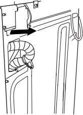 to your washer and is stored inside the washer cabinet. Remove drain hose from washer cabinet