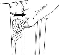 force excess drain hose back into the rear of the washer. Laundry tub drain or standpipe