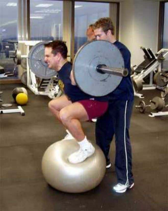 Carga Total Velocidade de Execução ANDERSON e BEHM. Trunk muscle activity increases with unstable squat