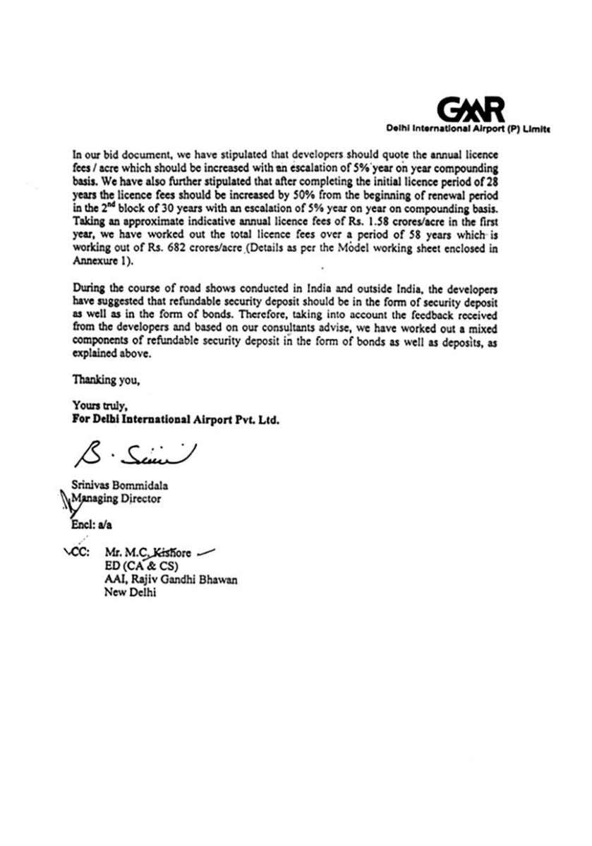 Report No. 5 of 2012-13 Implementation of Public Private Partnership Indira Gandhi International Airport, Delhi 43