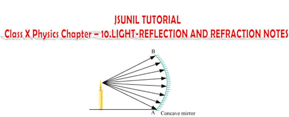 Although, there are an infinite number of light rays originating from the candle, we will