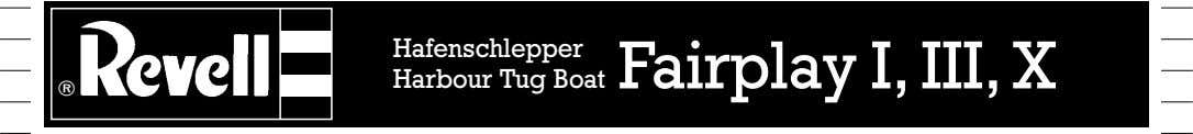 Hafenschlepper Boat Fairplay I, III, X Harbour Tug ®