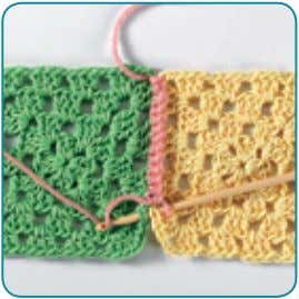 single crochet through spaces of both layers, repeat from *. wronG Side wronG Side laCy CHain