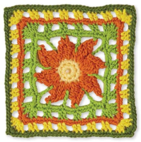 42 9 8 7 6 5 4 3 1 2 Granny Square flowerS tiGer lily