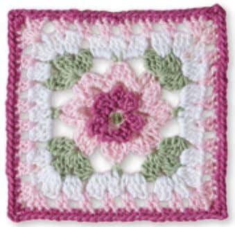 8 1 62 7 5 6 3 4 2 1 Granny Square flowerS pink Cosmos