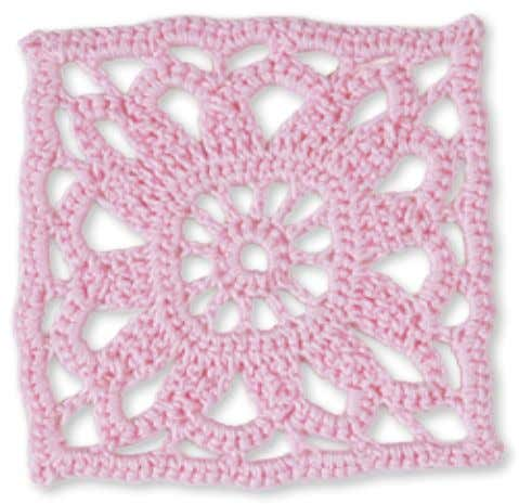 66 4 1 Granny Square flowerS laCy bee balm Skill level: advanced Beginner Made with