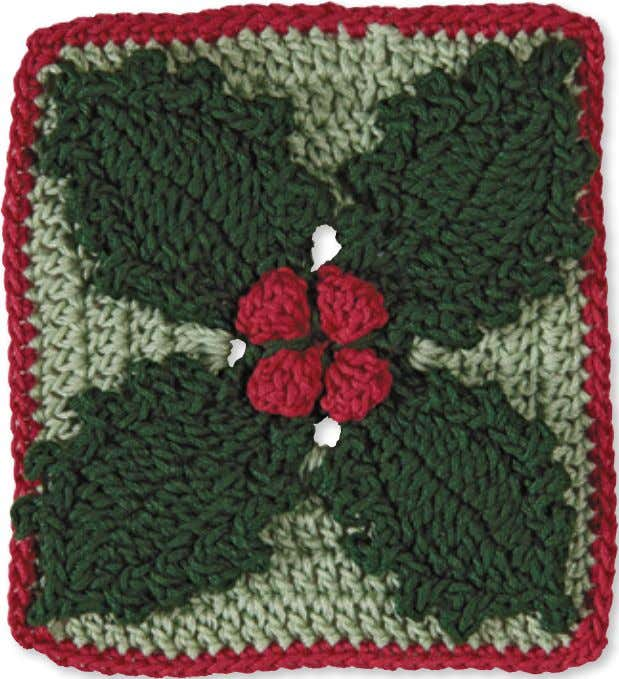 72 Granny Square flowerS Holly Skill level: Intermediate Made with 3 colors: A, B, and
