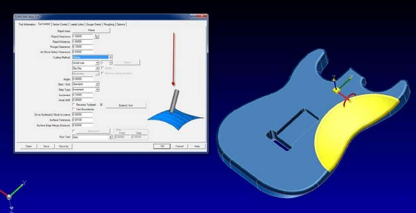 CAD/CAM Software with world class precision and control Graphic indicating a Planer cut is selected f.