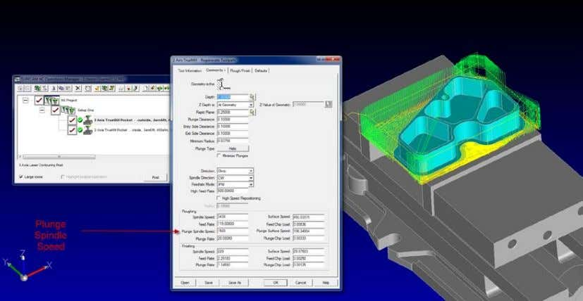 CAD/CAM Software with world class precision and control The new spindle speed field for the helical