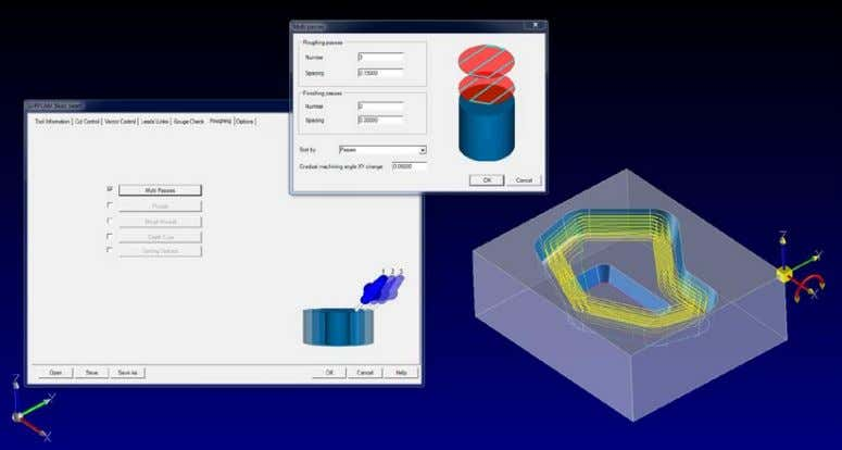 function to create multiple passes on any 4-5 axis toolpath. Multiple roughing passes on a 5x