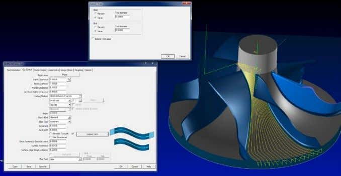 avoid having to model surfaces to extend the 4-5 axis cuts. Surface extensions for drive surface