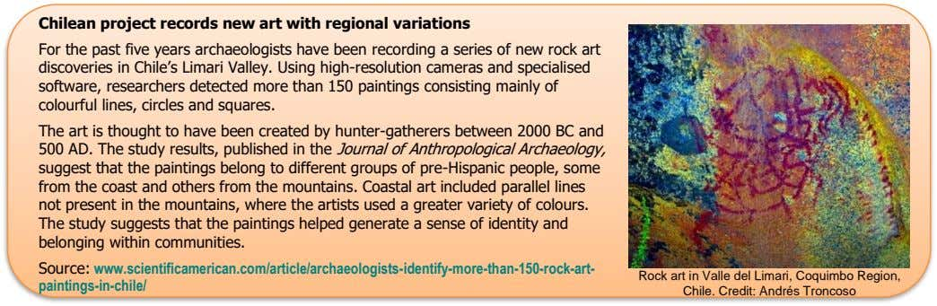Chilean project records new art with regional variations For the past five years archaeologists have