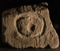Elaborate 'headband' decoration from Structure 8 The Eye of Brodgar; tiny cartouche; row of cups. Teather,