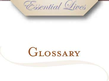 Essential Lives Glossary