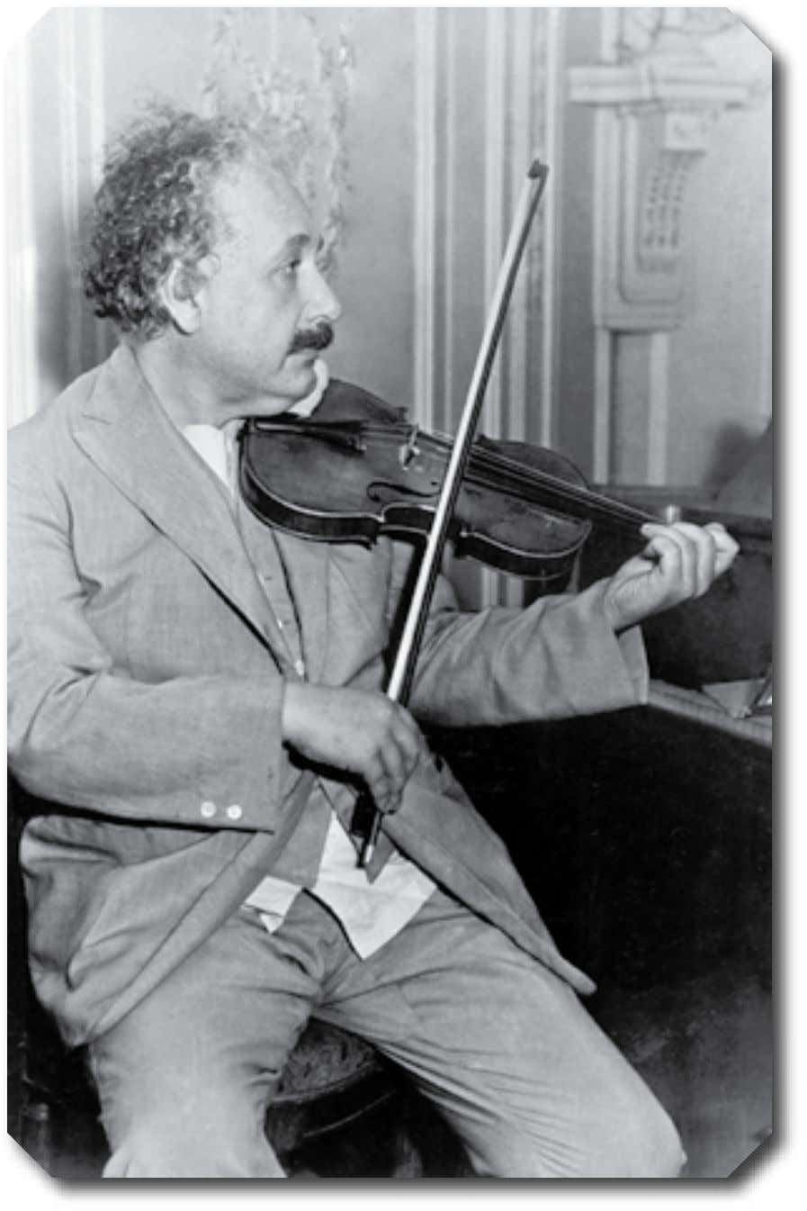 Albert Einstein Einstein learned to play the violin as a child. He enjoyed this activity throughout