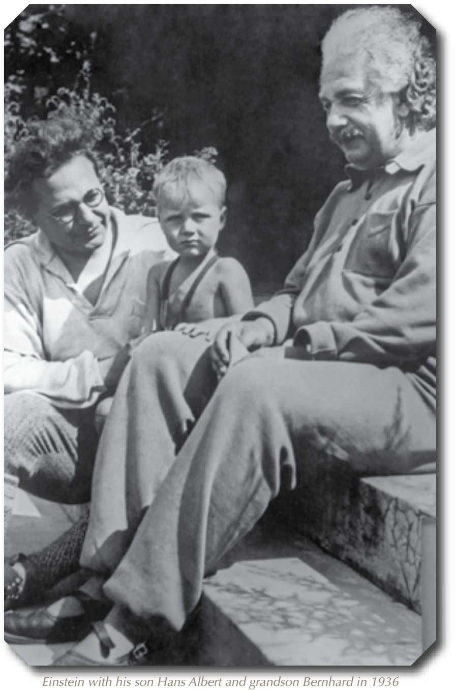 Einstein with his son Hans Albert and grandson Bernhard in 1936