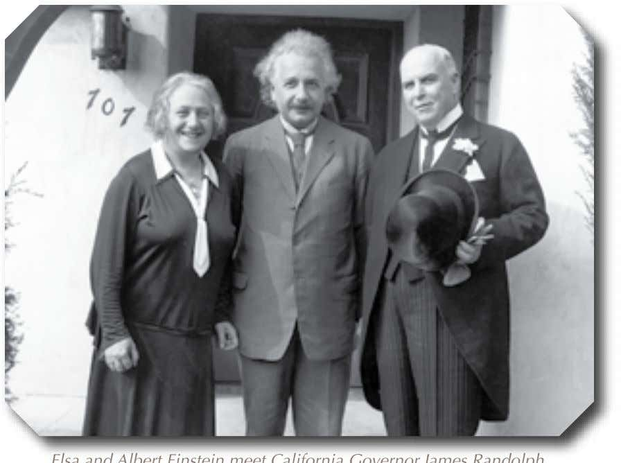 Essential Lives Elsa Elsa and and Albert Albert Einstein Einstein meet meet California California Governor Governor