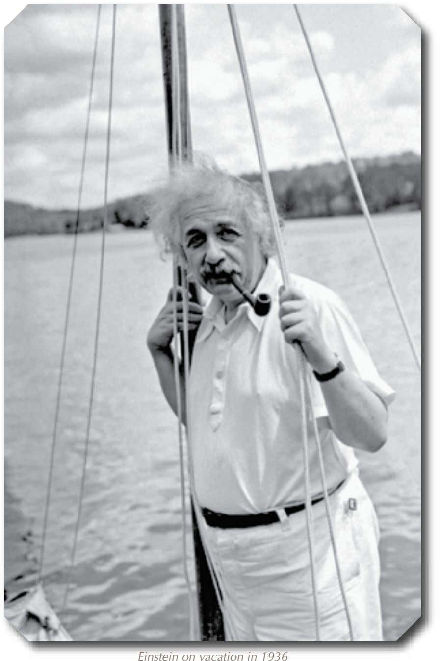 Einstein on vacation in 1936