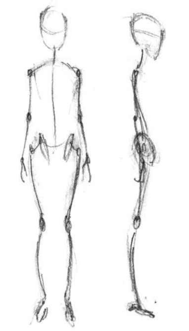 shown here to begin your drawing— although extremely FEMALE simple, these skeletal tools establish an enormous