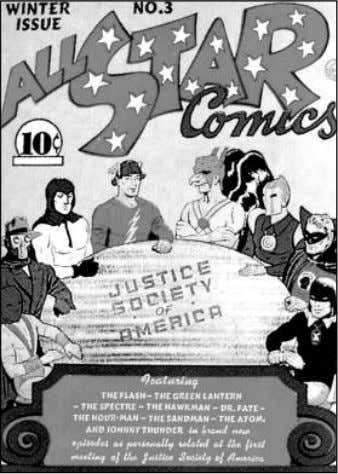 hundreds of super-heroes of one stripe or another. With All-Star Comics #3 (1940), eight of DC's