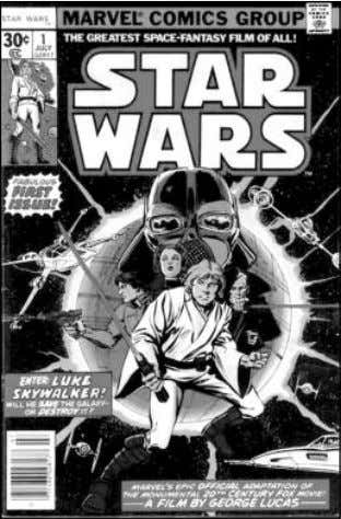 noteworthy if for no other reason than the utter strangeness Star Wars #1 (1977) went on