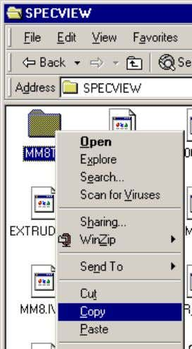 11 SpecView User Manual Once this is complete, run SpecView 32 and the configuration will be
