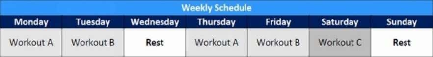 perweek. (WorkoutsAandBremainthesameasinPhase1&2)