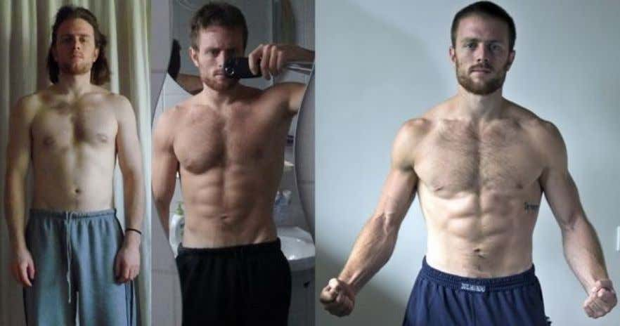 Leftside:6monthslater.Rightsideafter1yearlater Myprogressafter1.5yearoftrainingwithHomeMadeMuscle