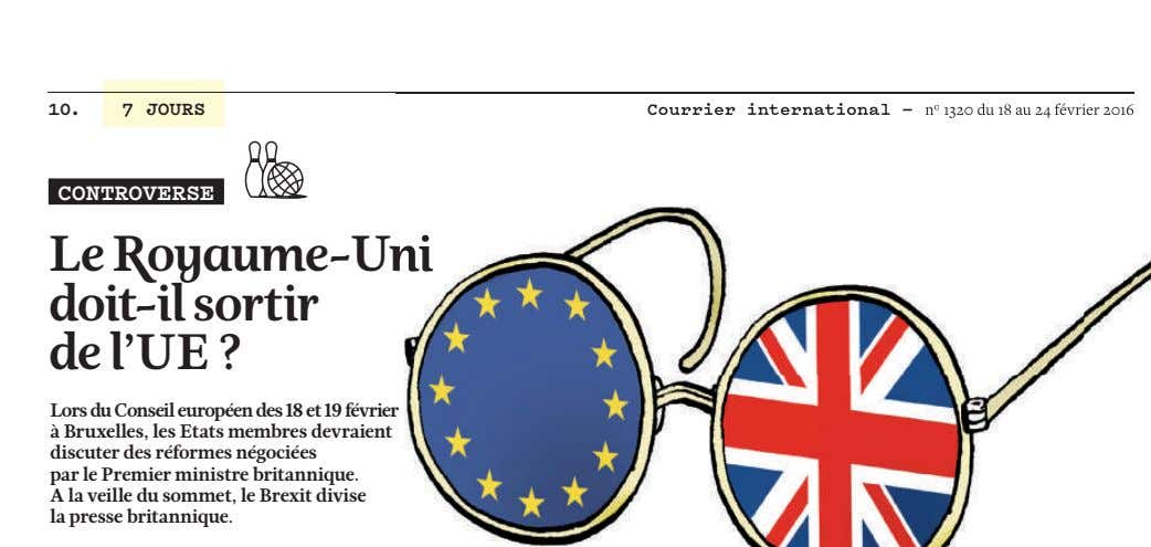 10. 7 JOURS Courrier international — n Courrier international — n o 1320 du 18