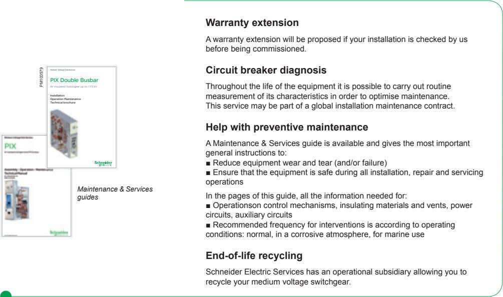 Warranty extension A warranty extension will be proposed if your installation is checked by us