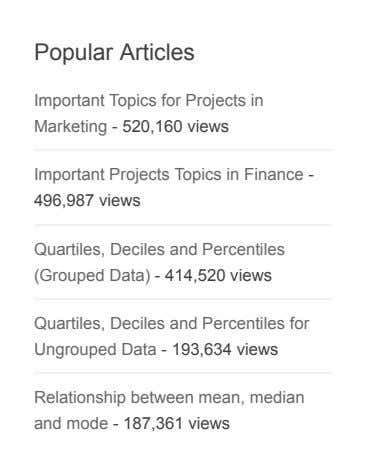 Popular Articles Important Topics for Projects in Marketing - 520,160 views Important Projects Topics in