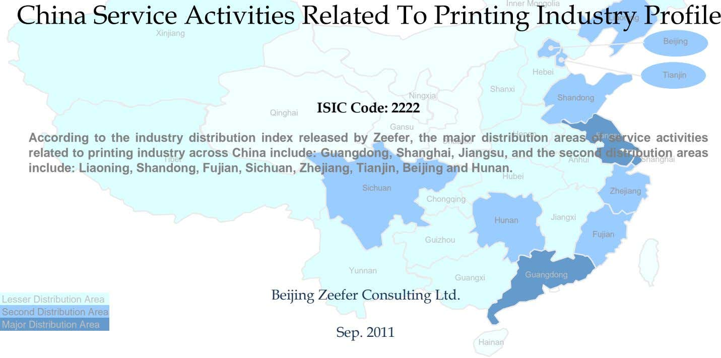 Inner Mongolia China Service Activities Related To Printing Industry Profile Liaoning Xinjiang Beijing Hebei Tianjin