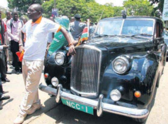 number plates. STORY AND MORE PICTURES ON PAGES 18-19 JENNIFER MUIRURI | NATION A member of